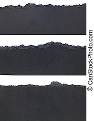 Torn Paper Borders - Black Torn Paper Borders isolated on...