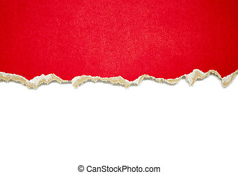 Torn paper borders isolated on white