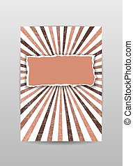 Torn paper cover, brochure, flyer, background in brown color. Vector illustration.
