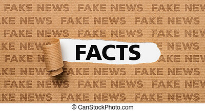 Torn Paper - Facts or Fake News