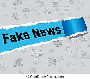Torn Paper Fake News Words 3d Illustration