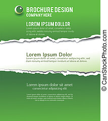 Torn paper for your background. Vector illustration
