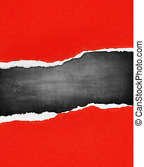 Torn paper - Gap in torn paper for advertising copy
