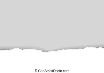 Torn Paper Gradient Mesh, Vector Illustration