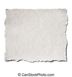 Torn Paper Isolated - Torn blank paper with copy-space.