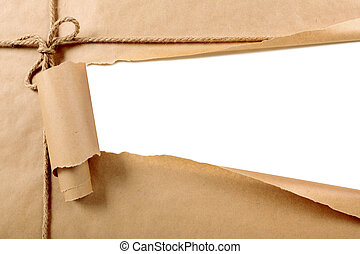 Torn paper package