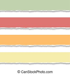 Torn paper pieces banners - Torn paper banners. Vector EPS10...