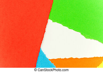 Torn paper - Colorful torn paper background with space for...