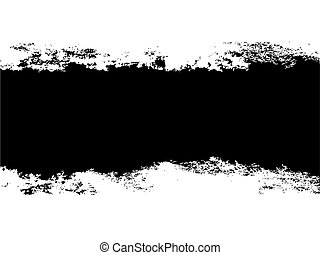 Layered vector illustration of a strip of ripped or painted middle section.