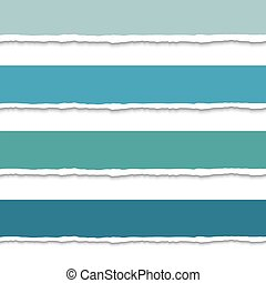 Torn paper with ripped edges, set of vector colorful web banners, space for text