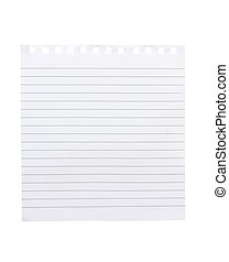 torn piece of notebook paper - note book style lined paper ...
