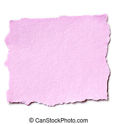 Torn Pink Paper Isolated