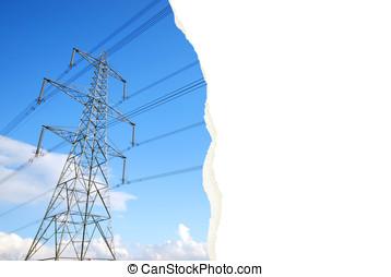 Torn pylon photograph - An interesting photograph of an...