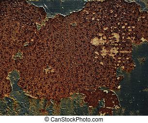 Torn Rusty Metal Texture Background