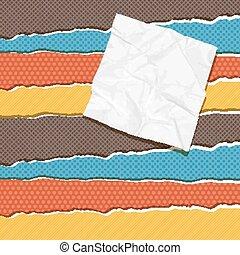 Torn scratch paper vintage background. Vector texture. - ...
