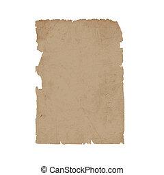 Torn sheet old paper