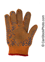 torn work glove