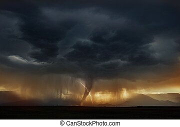 tornade, cellule, super, orage