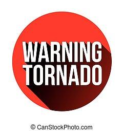 tornado, advertencia, rojo, señal