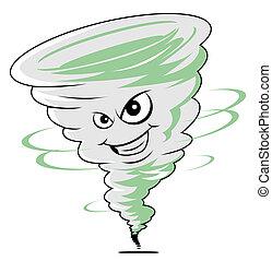 tornado, caricatura