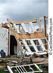 Tornado damage and destruction