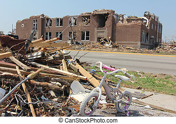 Tornado Damaged Elementary School - EF5 is the strongest...