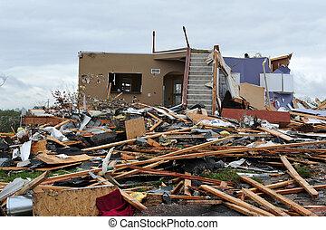 tornado, destruição