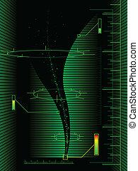 Tornado diagram - Scientific tornado measurements abstract...