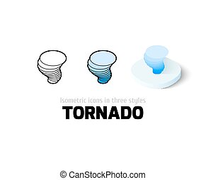 tornado, differente, stile, icona
