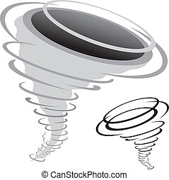 tornado - cartoon tornado isolated on the white background