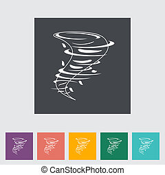 Tornado flat icon. Vector illustration EPS.