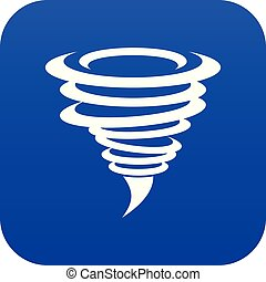 Tornado icon digital blue