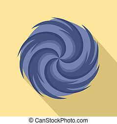 Tornado icon, flat style