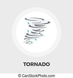 Tornado icon flat