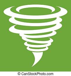 Tornado icon green