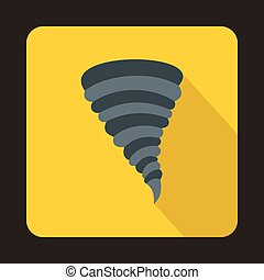 Tornado icon in flat style