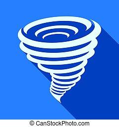 Tornado icon, vector illustration.