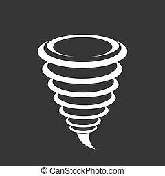Tornado Icon Vector Illustration