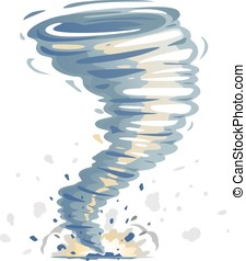 Tornado Illustration Isolated