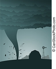 Tornado in the country - Tornado ravages the countryside...