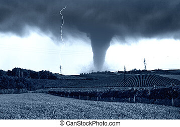 tornado incoming on the fields