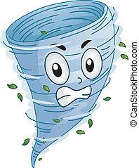 Tornado Mascot - Mascot Illustration of a an Angry Tornado...