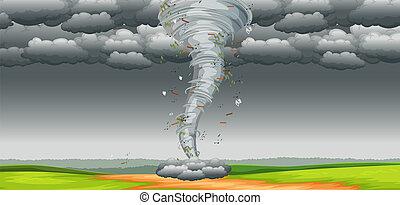 tornado, naturaleza