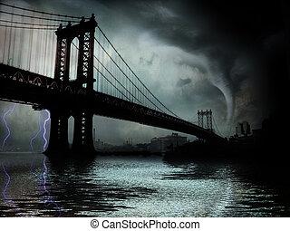Tornado NYC NY - Tornado NYC Illustration