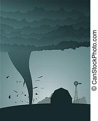 tornado, país
