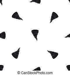 Tornado pattern seamless black