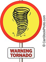 tornado, señal de peligro