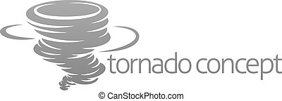 A tornado twister hurricane or cyclone stylised icon concept