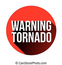 Tornado Warning sign red