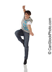 torneira, único, dançarino, macho